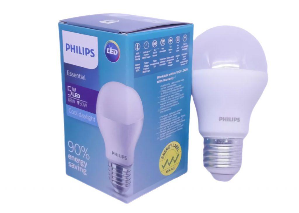 Bola lampu LED Essensial Ekonomis 5w Putih