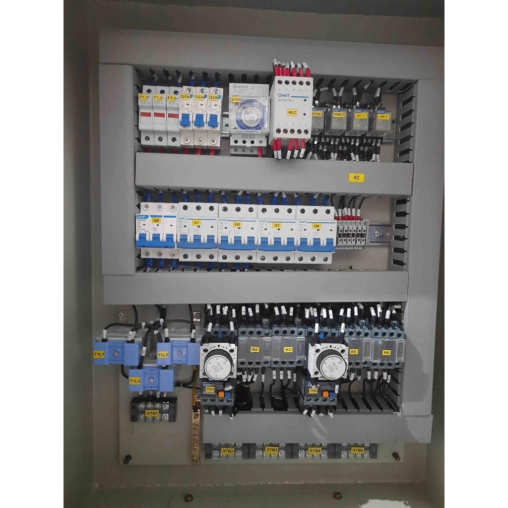 panel motor star delta 220 kw